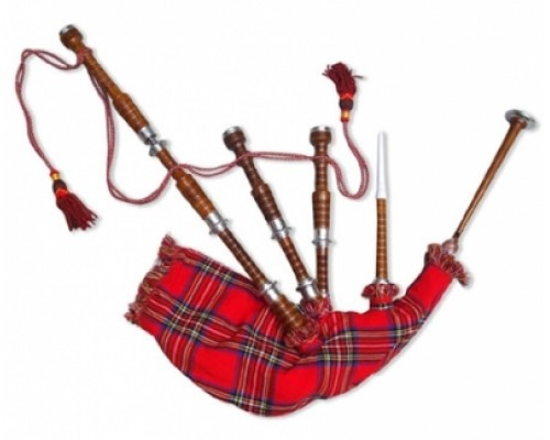 Bagpipes in Silver  Fitting