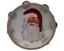 AH-777-TB-02         Santa Claus Tambourine