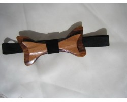 Wooden Bow Tie   Double