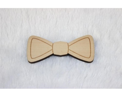 Wooden Bow Tie engraved