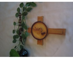 Wooden Wheat Cross