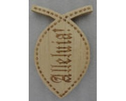 fish shape plaque Engrave