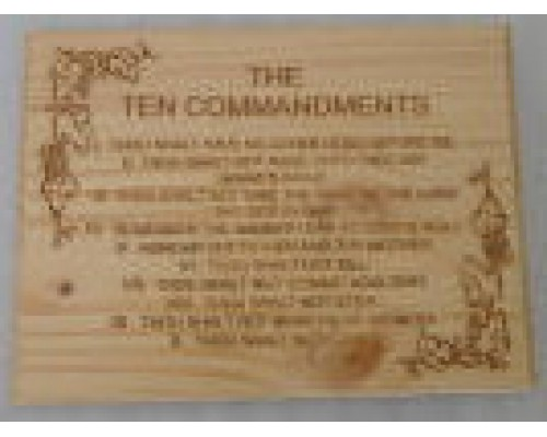 Ten Commandments Engrave