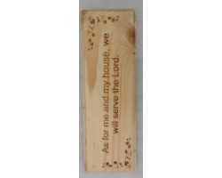 Scripture on Rectangle shape plaque Engrave