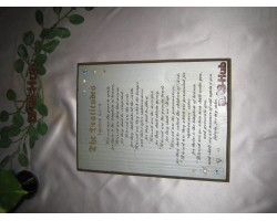The Beatitudes painted plaque Engrave