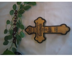 Engraving on Cross Painted