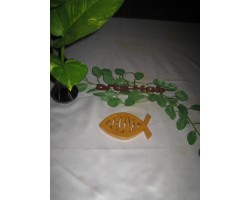 fish shape plaque Engrave painted