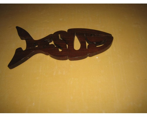 Wooden Fish Plaque