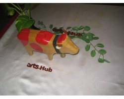 AH-777-WM-03    Wooden    Model Cow