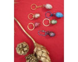 wooden Easter eggs giller painted Key chain