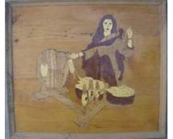 Wooden Picture     (Old Punjabi Culture)