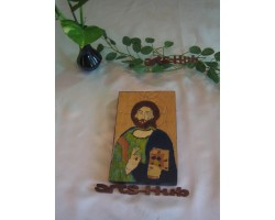 The Jesus painted picture(Artificail paints used)