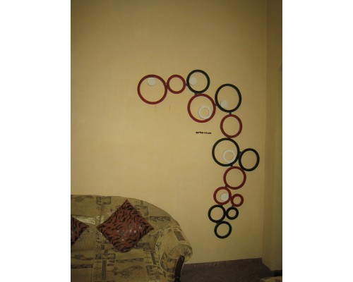 AH-777-WWH-04   Wooden Rings wall hanging