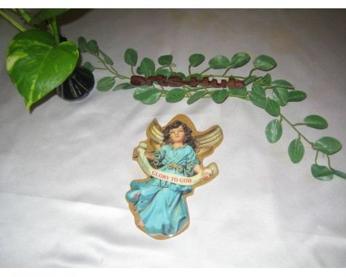 AH-7777-WWH-06  Wooden Angel Laminated Paper